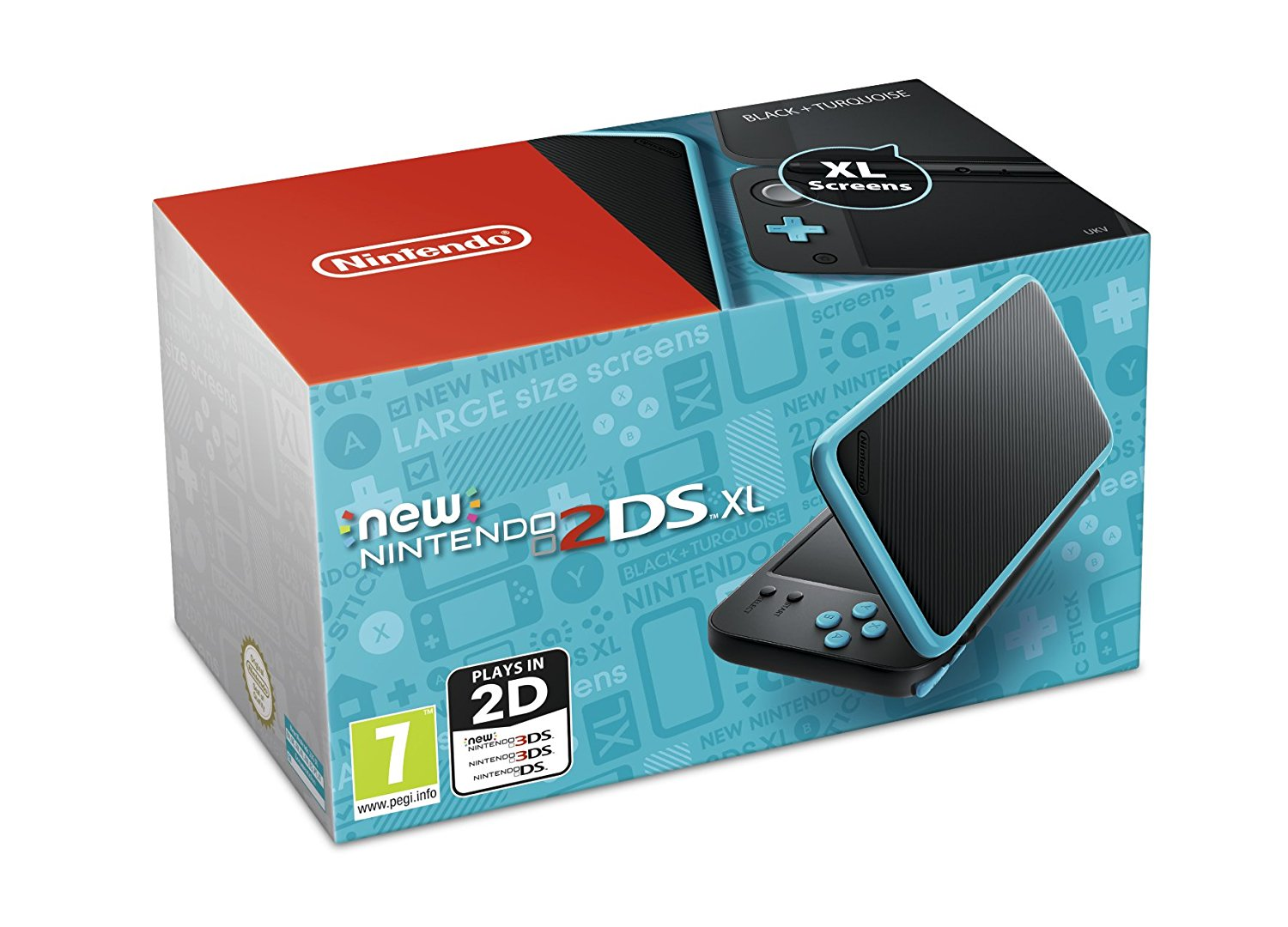 New Nintendo 2DS XL Black and Turquoise